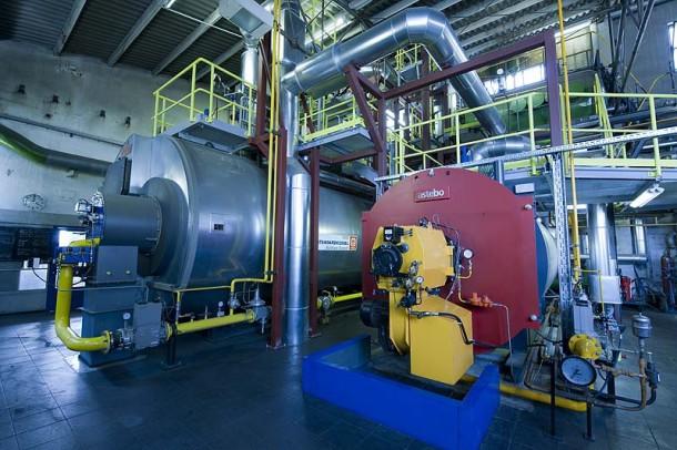 Moderne Heizanlage mit nachgeschaltetem Abgaswärmetauscher