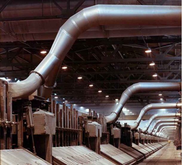 Elektrolysehalle der TRIMET Aluminium SE