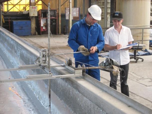 Anwendung innovativer Messtechnologie zur Erhöhung der Lebensdauer von Stahlkesseln im Verzinkungsprozess
